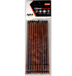 Ajax 150mm Magnetic Phillips No.2 Power Bits - 105PH2A10PK