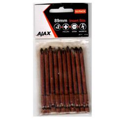 Ajax 89mm Magnetic Phillips No.2 Power Bits - 89PH2A10PK