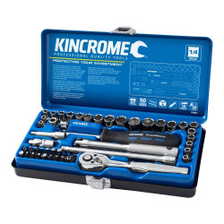 Kincrome 48 Piece 1/4 Drive Metric and Imperial Socket Set - K28001