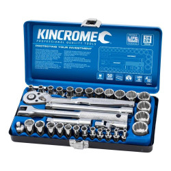 Kincrome 33 Piece 1/4 and 3/8 Drive Metric Socket Set - K28015