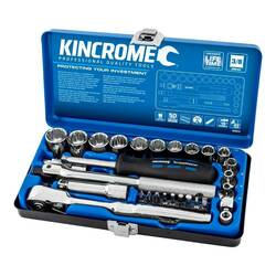 Kincrome 29 Piece 3/8 Drive Metric Socket Set - K28010