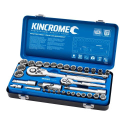 Kincrome 35 Piece 1/4 and 1/2 Drive Metric Socket Set - K28030