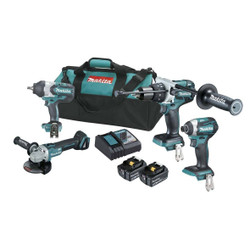 Makita 18V Cordless Brushless 4pce Combo Kit BONUS # DLX4092T