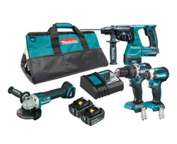 Makita 18V Mobile Brushless 4 Piece Combo Kit - DLX4102T