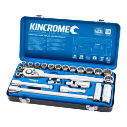 Kincrome 24 Piece 1/2 Drive Metric Socket Set - K28020