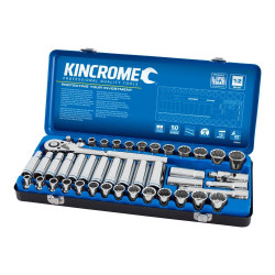 Kincrome 45 Piece 1/2 Drive Metric and Imperial Socket Set - K28024