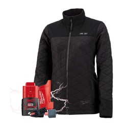 Milwaukee M12 Heated AXIS 12v Womens Jacket + BONUS Battery # M12HJMBLACK9W-0