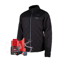 Milwaukee M12 Heated AXIS 12v Mens Jacket + BONUS Battery # M12HJMBLACK9-0