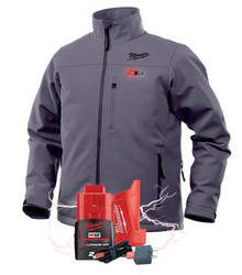 Milwaukee M12 Heated 12v Iron Grey Jacket + BONUS Battery # M12HJIGREYX-0