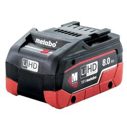 Metabo 18V 8.0Ah LiHD Lithium-Ion Battery Pack - 625369000