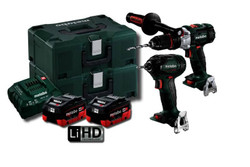 Metabo 18V 5.5Ah LiHD 2pce Brushless Combo Kit # SB-SSD200-BL-M-HD5.5