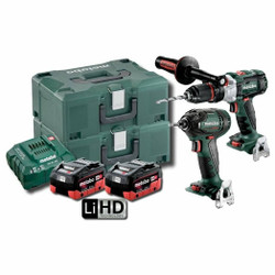 Metabo 18V 5.5Ah LiHD 2pce Brushless Combo Kit # SB-SSW-300-BL-M-HD-5.5