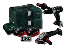 Metabo 18V 5.5Ah LiHD 2pce Brushless Combo Kit #SB-WB125-BL-M-HD-5.5
