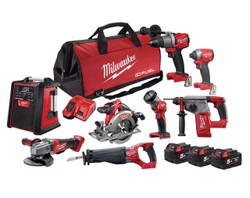 Milwaukee M18 FUEL 8pce 18v Cordless Power Pack # M18FPP8A2-503B