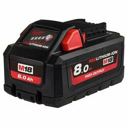 Milwaukee M18 High Output 18v 8.0Ah Battery Pack - M18HB8