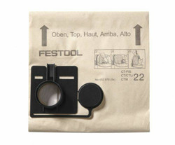Festool CT 33 Replacement Filter Bags 5pk - 452971