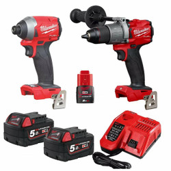 Milwaukee FUEL 18v Cordless 2pce Combo Kit # M18FPP2A2-502C