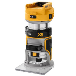 DeWalt 18V XR Li-ion Cordless Brushless 6.35mm 1/4 Laminate Trimmer Router Skin # DCW600N-XJ