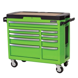 Kincrome CONTOUR 9 Drawer Tool Trolley Green - K7759G