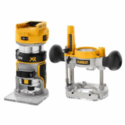Dewalt 18V XR Brushless 8mm Cordless Router Skin with Base # DCW604N-XJ