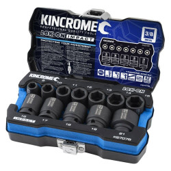 Kincrome 12pce 3/8 Drive LOK-ON Impact Socket Set - K27076
