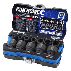 Kincrome 12pce Imperial 3/8 Drive LOK-ON Impact Socket Set - K27077