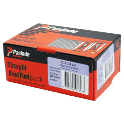Paslode 32mm 16 Gauge Galvanised Brad Nails with Fuel 3000 Pack - B20625