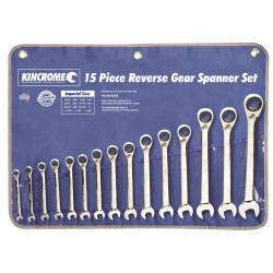 Kincrome 15pce Combination Imperial Reversible Gear Spanner Set - K3016