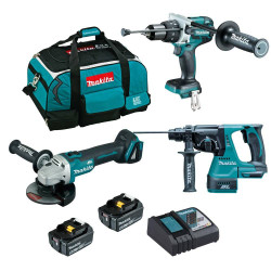 Makita 18V Brushless 3pce Cordless Combo Kit BONUS - DLX3126TX1