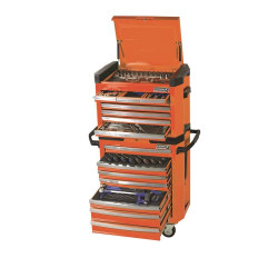 Kincrome 208pce ORANGE Contour Tool Chest and Trolley Workshop - K1510O