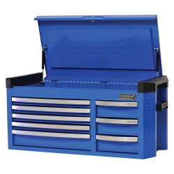 Kincrome Contour 8 Drawer Extra Wide Electric Blue Tool Chest - K7758