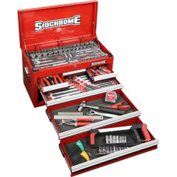 Sidchrome 162pce Metric A/F Tool Kit in 6 Drawer Chest - SCMT11700
