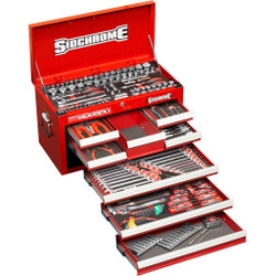 Sidchrome 204pce Metric A/F Tool Kit in 8 Drawer Chest - SCMT10158