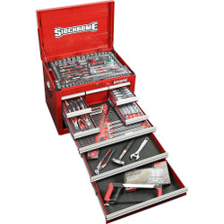 Sidchrome 242pce Metric A/F Tool Kit in 10 Drawer Chest - SCMT11800