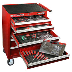 Sidchrome 250pce Metric A/F Tool Kit in 7 Drawer Trolley - SCMT11600