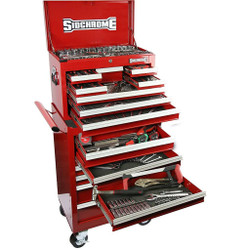 Sidchrome 250pce Metric A/F Tool Kit in Chest Trolley - SCMT11400