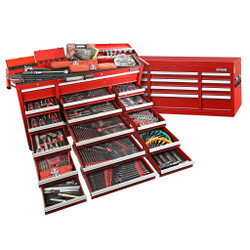 Sidchrome 613pce Metric A/F Tool Kit in Chest Trolley - SCMT11100