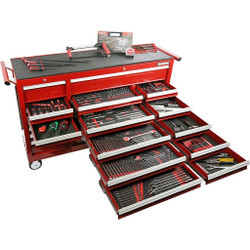 Sidchrome 393pce Metric A/F Tool Kit in 20 Drawer Trolley - SCMT11105