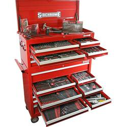 Sidchrome 417pce Metric A/F Tool Kit in Chest Trolley - SCMT11207