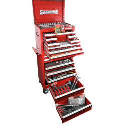 Sidchrome 461pce Metric A/F Tool Kit in Chest Trolley - SCMT11408