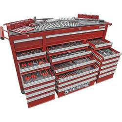 Sidchrome 523pce Metric A/F Tool Kit in 20 Drawer Trolley - SCMT10161