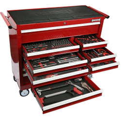 Sidchrome 281 Piece Metric A/F Tool Kit in 13 Drawer Roller Cabinet - SCMT11200