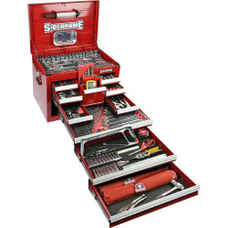 Sidchrome 303 Piece Metric A/F Tool Kit in 10 Drawer Chest - SCMT11805