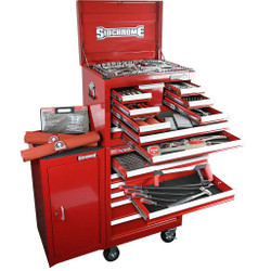 Sidchrome 356 Piece Metric A/F Tool Kit 10 Drawer Chest 7 Drawer Roller Cabinet Side Cabinet - SCMT11402