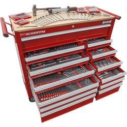Sidchrome 382 Piece Metric A/F Tool Kit 13 Drawer Roller Cabinet - SCMT10166