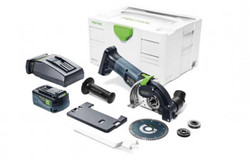 Festool DSC-AGC 18V 125mm Cordless Freehand Diamond Cutting System Plus 5.2Ah Set205272 - DSC-AGC18-125LIEB-PLUS