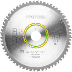 Festool Saw Blade 216 mm x 2.3 mm x 30 mm 60 tooth # 500125