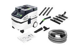 Festool Mobile Dust Extractor CLEANTAC 15 Litre Cleaning Set 574866 # CT15E-HEPA