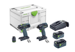 Festool 18V 2 Piece Impact Driver and Drill Driver Set 576495 # TID18-5.2-SET-T18