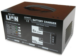 Lion Battery Charger Trade Series Fully Automatic 12 Volt 6 Amp and 12 Amp - LA070H